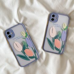 Gadget City - Flower Print Phone Case - iPhone SE / 7 / 7 Plus / 8 / 8 Plus / X / XS / XR / XS / XS Max / 11 / 11 Pro / 11 Pro Max
