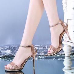 Vindler - 亮片高跟涼鞋