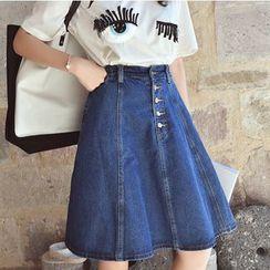 Oaksa - A-line Denim Skirt