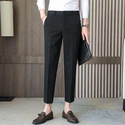 VEAZ - Cropped Straight Leg Dress Pants