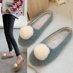 Weiya - Furry Ball Flats