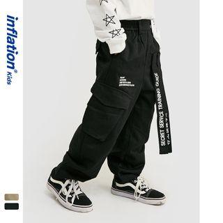 Wolandorf - Kids Tie-Accent Straight-Cut Cargo Pants