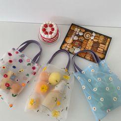 Geolte - 绣花网纱手提包