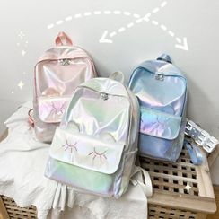 OUCHA - Embroidered Iridescent Backpack