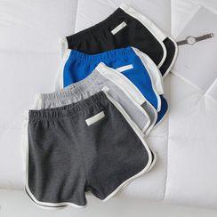 mochigome - 配色边运动短裤