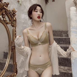HYG Lingerie - Set: Lace Trim  Bra + Panties