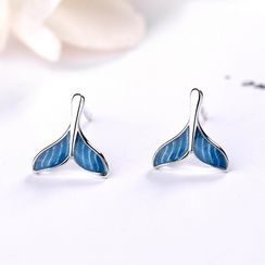 JZ Concept - S925 Sterling Silver Mermaid Tail Stud Earring