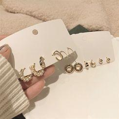 IFOUND - 套裝: 合金耳環 (多款設計)