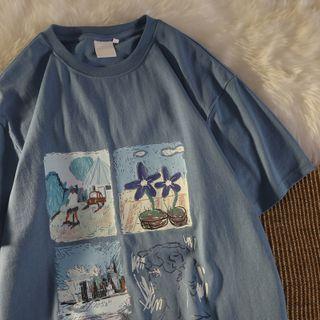 Honey River - Short-Sleeve Graphic Print T-Shirt