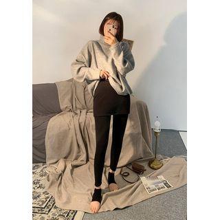 chuu - Miniskirt Overlay Leggings