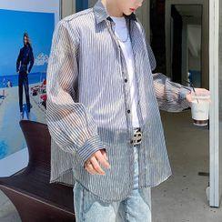 VEAZ - 长袖条纹薄纱衬衫