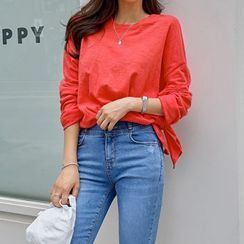 PIPPIN - Drop-Shoulder Plain T-Shirt