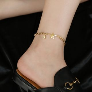 MOMENT OF LOVE - Stainless Steel Star Anklet