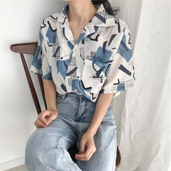 MELLO - 印花中袖衬衫