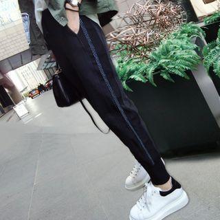 Luna Rouge - 九分配色條紋運動褲