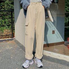 Dute - Straight-Leg Corduroy Cargo Pants