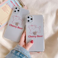 Witheart - Animal Print Transparent Mobile Case - iPhone 11 Pro Max / 11 Pro / 11 / XS Max / XS / XR / X / 8 / 8 Plus / 7 / 7 Plus / 6s / 6s Plus