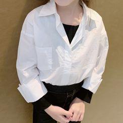 AMIS - Kids Mock Two-Piece Long-Sleeve Shirt