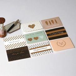 DAILYCRAFT - Retro Mini Greeting Card (various designs)