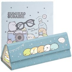 San-X - San-X Sumikko Gurashi Glasses Case with Cleaning Cloth (Denim Pattern)