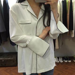Robynn - Piped Lapel Collar Shirt