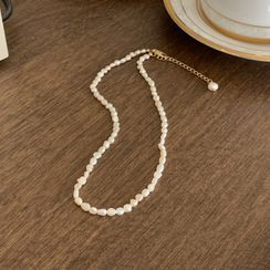 UPTOWNHOLIC - Freshwater-Pearl Necklace