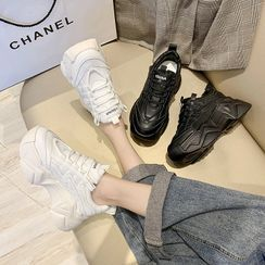 Chryse - Platform Chunky Lace Up Sneakers