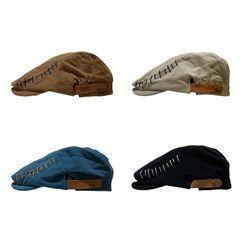Heloi - Contrast Stitch Flat Cap
