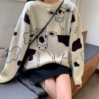 Brooklane - Cow Print Sweater