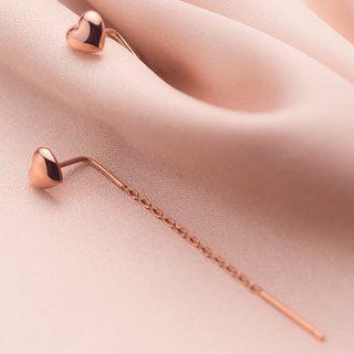 A'ROCH(エーロック) - 925 Sterling Silver Heart Drop Earring