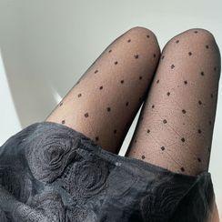 MEIA - 圆点提花裤袜