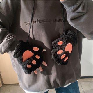 ever after - Printed Cat Woolen Gloves