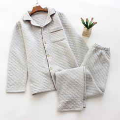 Dogini - Couple Matching Pajama Set: Long-Sleeve Top + Pants