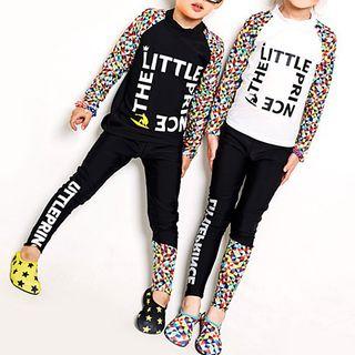 Sabbia - Kids Set: Lettering Rashguard + Pants