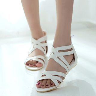 Megan - 纯色平底鞋罗马凉鞋