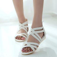 Megan - Plain Flat Roman Sandals