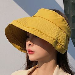 Oktokki - Plain Wide Brim Visor Hat