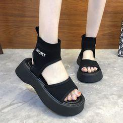 FiE FiE(フィエフィエ) - Lettering Platform Sandals