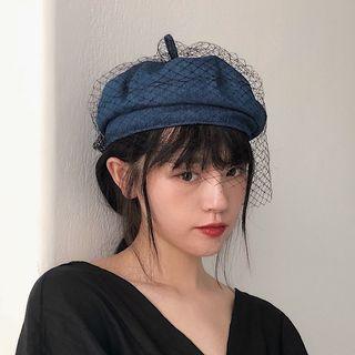 TESS - Mesh Panel Beret Hat