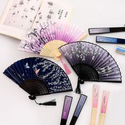 Eteum - Retro Print Foldable Hand Fan