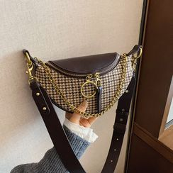 BAGUS - Houndstooth Chained Sling Bag