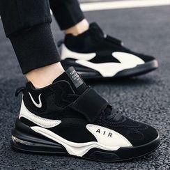 Redrunner - Adhesive Strap High Top Platform Sneakers