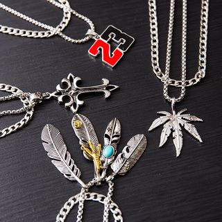 Tinseltown(ティンセルタウン) - Alloy Pendant Necklace (various designs)