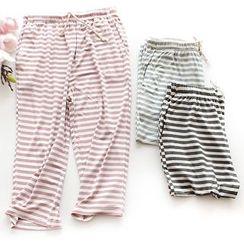 Dogini - Striped Cropped Pajama Pants