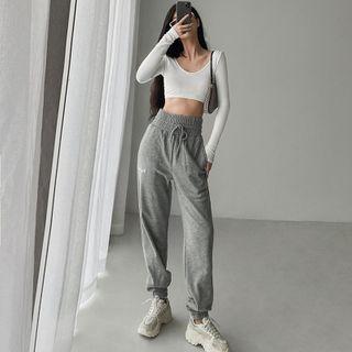 Janflower - Ultra High-Waist Loose-Fit Harem Pants