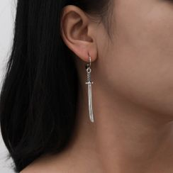 Seirios - Asymmetrical Sword Drop Earring