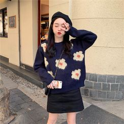 Sienne(シエンヌ) - Floral Sweater