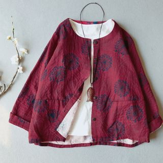 Vateddy - Floral Print Jacket
