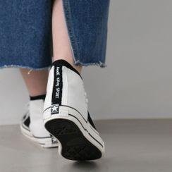PPGIRL - High-Top Color-Block Sneakers
