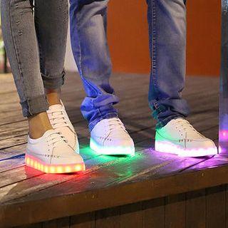 MARTUCCI - Zapatillas LED recargables con cable de bolsillos